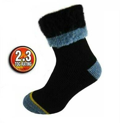 Men's Extra Warm DOUBLE HEAT 2.3 Tog Thermal Insulated Work Boot Socks.Thick • 3.99£
