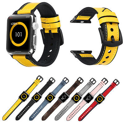 $ CDN13.10 • Buy Silicone Leather Band For IWatch Series 6 5 4 3 Apple Watch Strap Bracelet Belt
