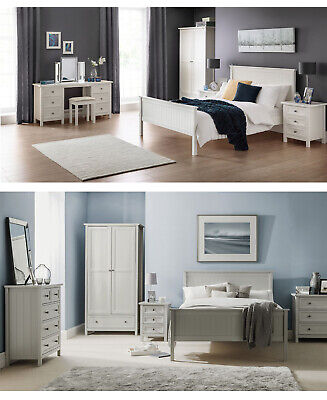 £254.95 • Buy Julian Bowen Maine Bedroom Furniture - New England Style - Grey Or White Finish