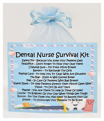 Dental Nurse Survival Kit - Fun Novelty Gift & Card Keepsake Secret Santa  • 5.50£