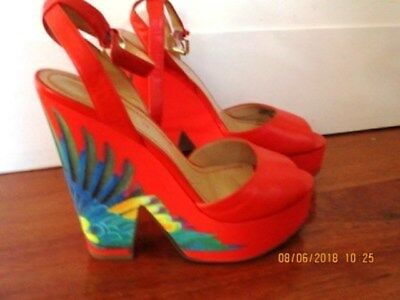 AU45 • Buy Shoes Nine West Orange Wedge Size 7