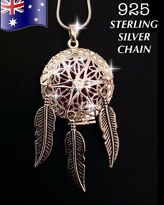 AU13.90 • Buy Dreamcatcher Aromatherapy Oil Diffuser 925 Sterling Silver Necklace + FREE Pads