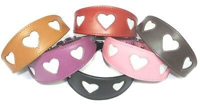 £18.99 • Buy Whippet Collar Greyhound Leather Hound Padded Backing Sparkle Glitter Heart