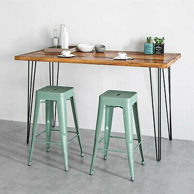 AU77 • Buy Furniture Hairpin Table Legs 3 Rod 90cm Steel Set Of 4 Industrial Bench  Tables