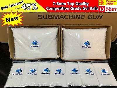AU8.99 • Buy NEW Milky White 7 8mm 50,000 1kg HARDENED 7mm Water Gel Balls Ammo Blaster