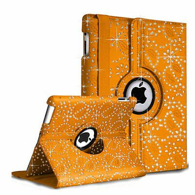 £5.39 • Buy New Rotate Bling Sparkly Diamond Leather Case For Apple IPad 9.7 2017/9.7 2018