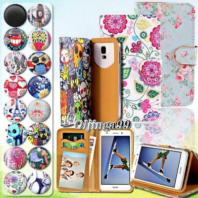 For Various Huawei P 8 9 10 20 Phone - Leather Wallet Card Stand Flip Case Cover • 3.99£