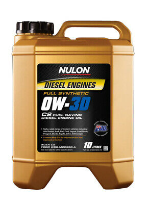 AU104.95 • Buy Nulon Full Synthetic Diesel Fuel Conserving Engine Oil 0W-30 10L Fits Toyota ...