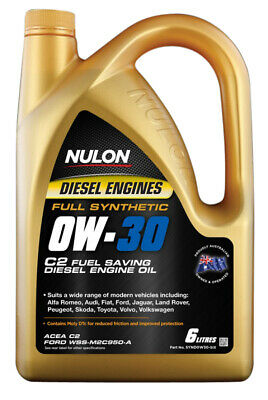 AU64.95 • Buy Nulon Full Synthetic Diesel Fuel Conserving Engine Oil 0W-30 6L Fits Toyota F...