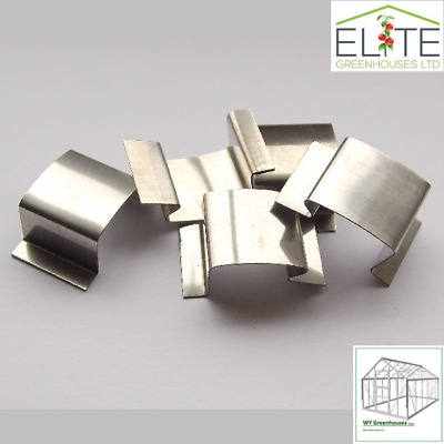Elite Greenhouse Stainless Steel   G   - Band - Glazing Glass Clips - Pack Of 24 • 4.99£