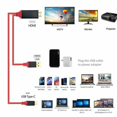 AU22.99 • Buy Full HD Type C To HDMI USB 3.1 Phone To TV HDTV Video Cable 2M For Samsung S8 S9