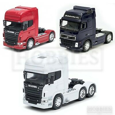 £21.99 • Buy Welly Truck Cab 1/32 Scale Diecast Volvo FH12 Scania V8 R730 White Red Blue