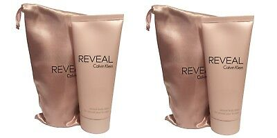 Calvin Klein Reveal Sensual Body Lotion For Women 100ml With Pouch X2 • 19.99£