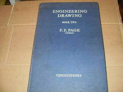 £30 • Buy Engineering Drawing Book Two F.E.Page - 1960 - As Photo's