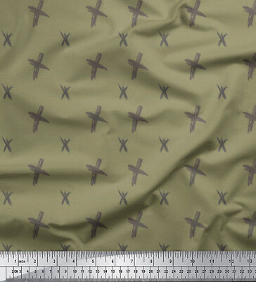 Soimoi Fabric Cross & Geometric Decor Fabric Printed Meter-GMD-616B • 7.60£