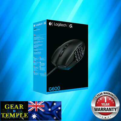AU95 • Buy New Logitech G600 MMO Gaming Mouse RGB 8200DPI Programmable 20 Buttons Black