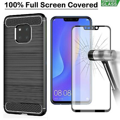 Huawei P40 Pro Lite P30 Mate 20 Pro Case Armor Cover +Tempered Glass Screen Film • 4.48£