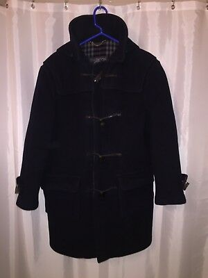 $579.99 • Buy Pre-loved Auth BURBERRY Navy SPECIALTY DUFFLE COAT Men's SMALL $1800 Boiled Wool