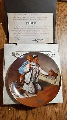 $ CDN15.11 • Buy 1983 Norman Rockwell  The Painter  Collectors Plate Edwin M. Knowles With COA