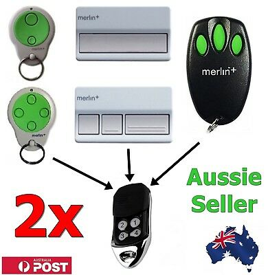 AU19.40 • Buy 2 X Merlin+ C945 CM842 C940 C943 Replacement Garage Remote Control