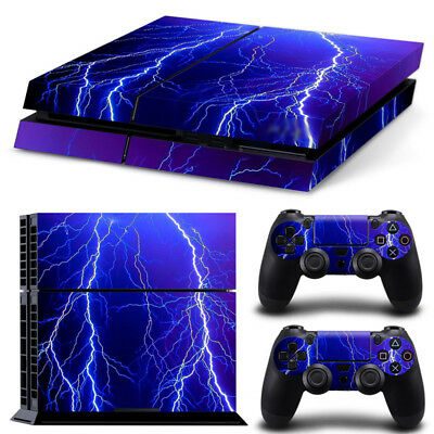AU10.86 • Buy LIGHTNING PS4 PlayStation 4 Skin Vinyl Sticker Decal Controller & Console Cover