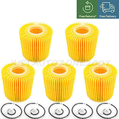 $13.95 • Buy 5PCS Oil Filter Kit 04152-YZZA1 04152-31090 Fits For Toyota Scion Lexus W/O-RING