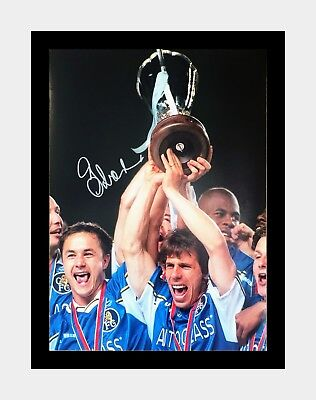 Signed And Framed Gianfranco Zola Chelsea Photo • 34.99£