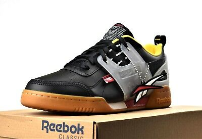 0d53763455e New Reebok Workout Plus Altered Men s Training Gym Shoes Black Red Yellow  Gum • 64.99