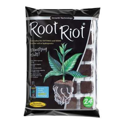 £9.70 • Buy Growth Technology Root Riot 24 Propagation Plant Starter Cubes Tray Hydroponics