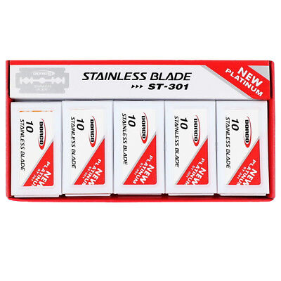$8.59 • Buy DORCO ST301 Platinum Stainless Double Safety Razor Blades 100