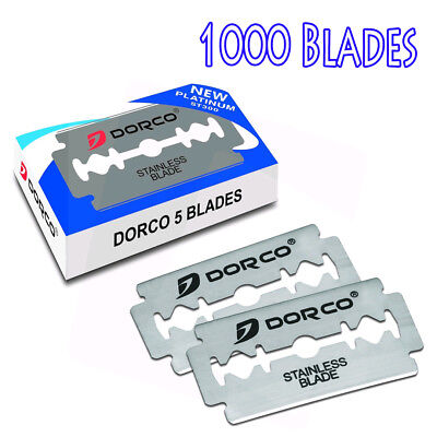 $53.48 • Buy 1000 Dorco Double Edge Razor Blades ST300-Stainless Fast Shipping From USA