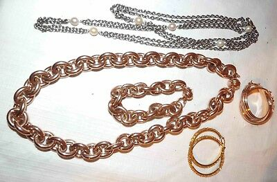 $ CDN50.09 • Buy Nice Lot Of Milor Bronze & Stainless Jewelry Necklaces, Earrings, & More  *lqqk*