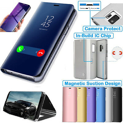 AU8.03 • Buy Samsung J6 Smart View Mirror Flip Stand Case Cover For Samsung Galaxy J6 2018