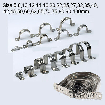 Stainless Steel Tube Clip Clevis Brackets Plumbing Pipe 5-200mm Saddle All Size • 3.14£