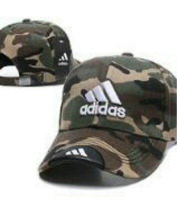 Embroidered Adidas 3 Stripes Strapback Baseball Cap Camo #3: One Size Fits Most  • 20.73£