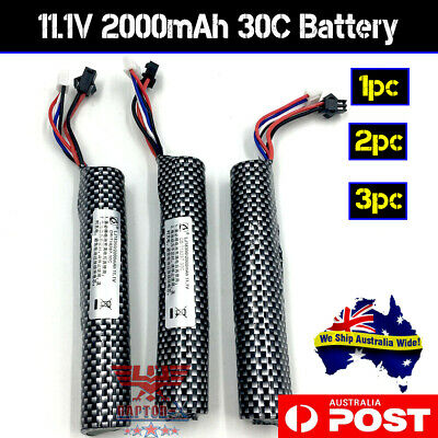 AU18.95 • Buy 11.1v 2000mAH 30C Lipo Battery GEL BLASTER UPGRADE SCAR Gen 8 J9 M4A1 AU STOCK