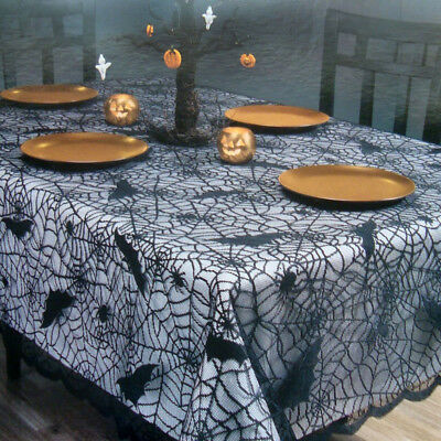60 X84  Halloween Lace Props Tablecloth Table Cloths Cover Home Party Decor • 7.79£