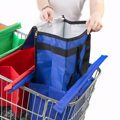 AU13.95 • Buy NEW Cool Bag Shopping Trolley Bags Vibe Reusable Eco-Friendly Supermarket