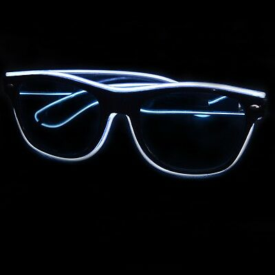 Light Up EL Wire Sunglasses Nightclub Rave Props Parties  • 8.99£