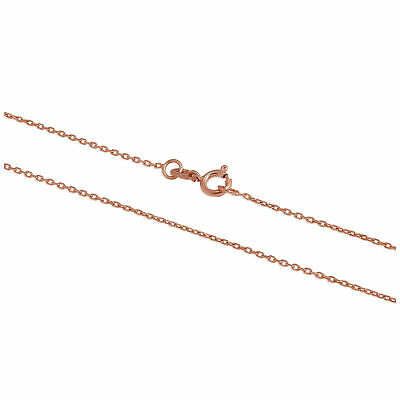 £45 • Buy 9ct Rose Gold Faceted Trace Chain 16 - 22 Inches