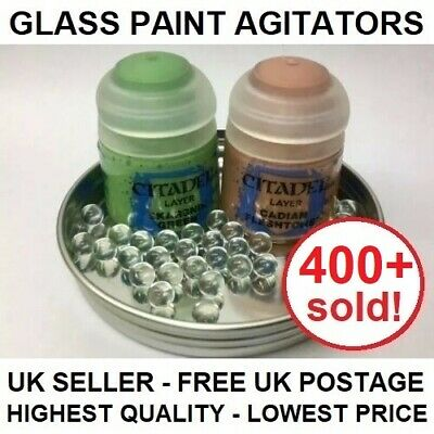 100 Glass Paint Agitators !SPECIAL OFFER SALE PRICE! Citadel Vallejo Mixing Ball • 3.20£