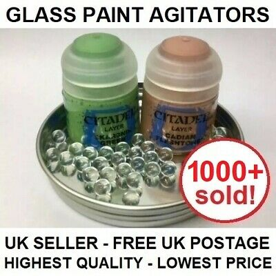 Glass Paint Agitators - Citadel Army Painter Vallejo Games Workshop Mixing Ball • 4.99£