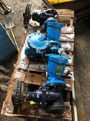 $1400 • Buy 4  WATTS 909 DOUBLE CHECK BACKFLOW PREVENTER W/  FLANGED GATE VALVES