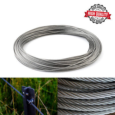 1mm 1.5mm 2mm 3mm 4mm 5mm 6mm GALVANISED STEEL WIRE ROPE METAL CABLE HIGH QUALIT • 1.08£