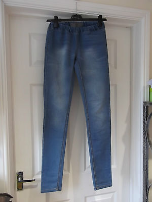 Size XS Vero Moda Jeans In Blue Denim With Elasticated Waist Jeggings  • 1.99£