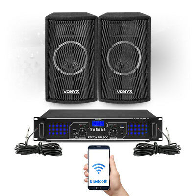 SL 6  Bluetooth Party Speakers And Amplifier FPL500 MP3 Home Music System • 135£