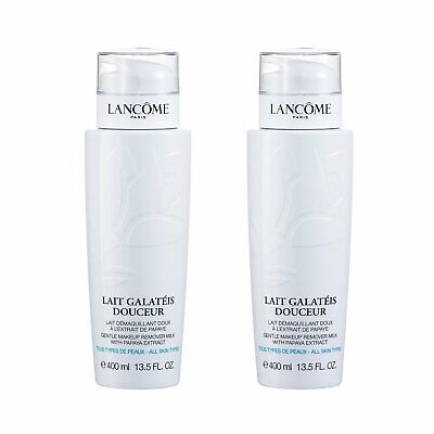 2X LANCOME Galateis Douceur Gentle Softening Cleansing Fluid Face & Eyes 400ml • 58.88£