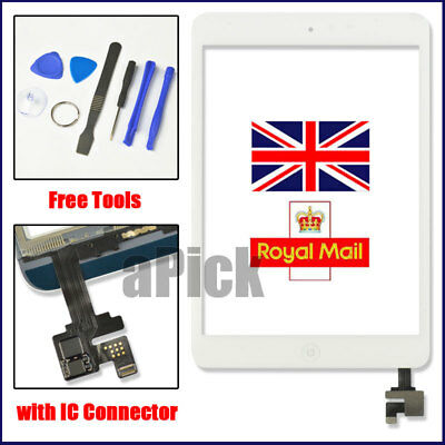 £11.94 • Buy White Screen For IPad Mini 1 2 Touch Glass Digitizer Replacement IC Home Button