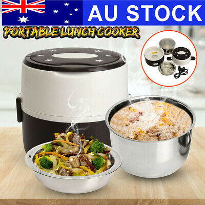 AU25.49 • Buy Portable Electric Lunch Box 2 Layer 1.0L Mini Steamer Pot Heating Rice Cooker !