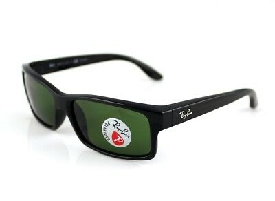 AU159.99 • Buy POLARIZED RAY-BAN Sunglasses Square Active Lifestyle Black Green RB 4151 601/2P